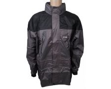 Regenjas de Luxe black/grey XL